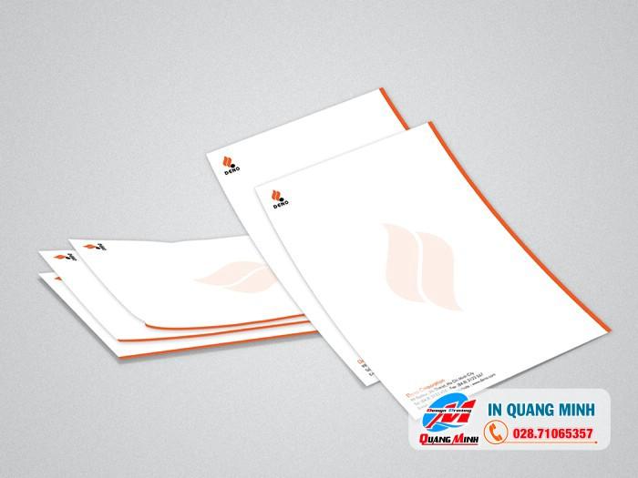 In giấy tiêu đề giá rẻ – in giấy tiêu đề số lượng ít lấyliền